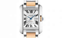 From Cartier- The New Tank Anglaise in Gold & Steel